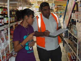 Biosecurity Officer at their routine shop surveillance